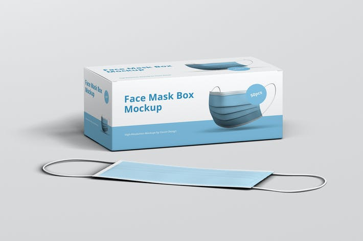 Thumbnail for Face Mask Box Mockup
