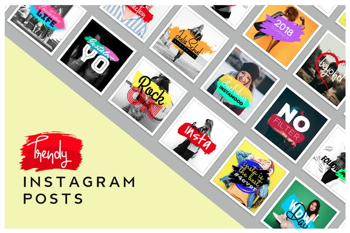 Thumbnail for Trendy & Vibrant Instagram Posts Templates