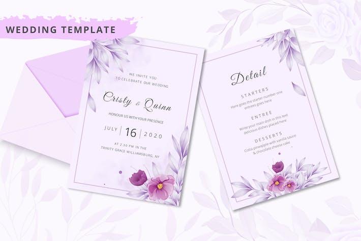 Thumbnail for Elegant wedding invitation card template