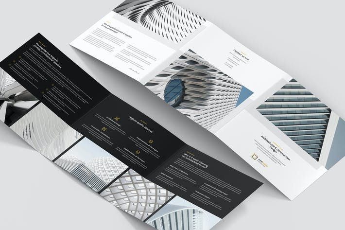 Thumbnail for Brochure – Architect Tri-Fold Square