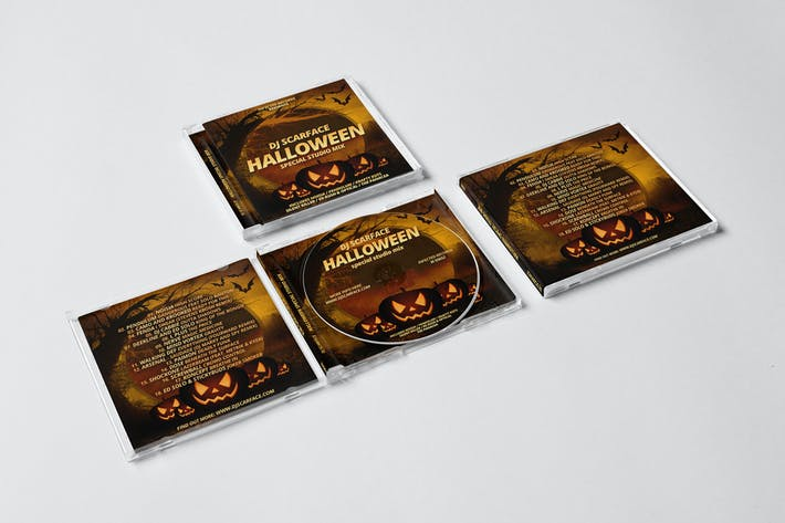 Thumbnail for Halloween DJ Mix CD Cover Artwork Template