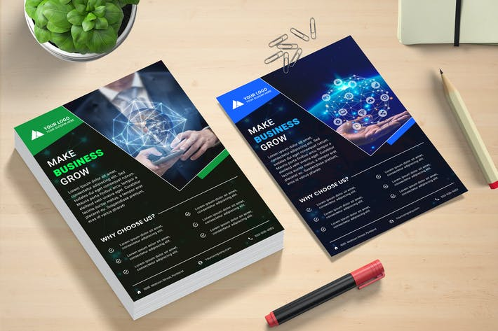 Thumbnail for Business Grow Flyer Template