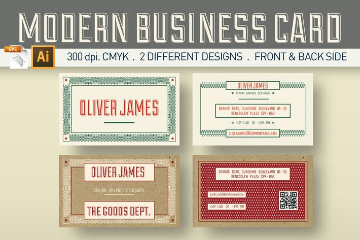 Thumbnail for Modern Business Card