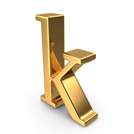 Gold Small Letter K
