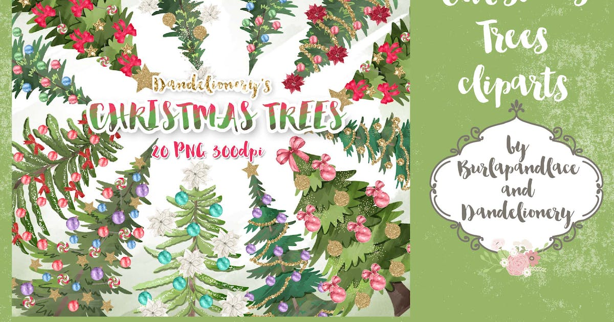 Download Christmas trees cliparts by burlapandlace