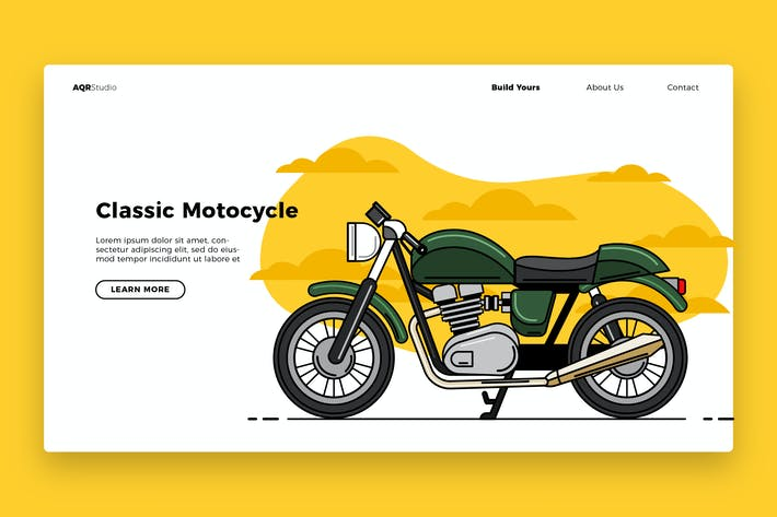Thumbnail for Classic Motocycle - Banner & Landing Page