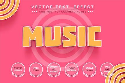 Розовая музыка - редактируемый текстовый эффект, стиль шрифта