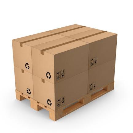 Palette mit Boxen