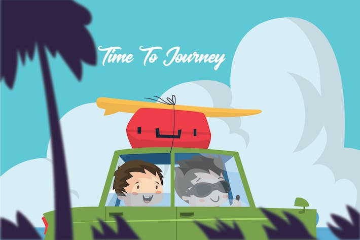 Thumbnail for Time to Journey - Vector Illustration