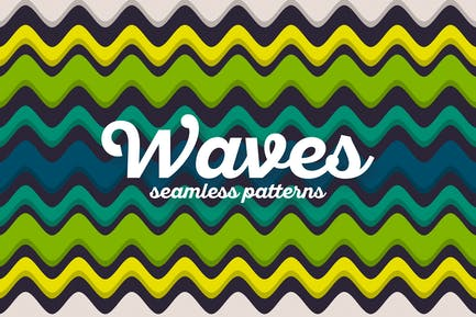 Colorful Waves Seamless Patterns