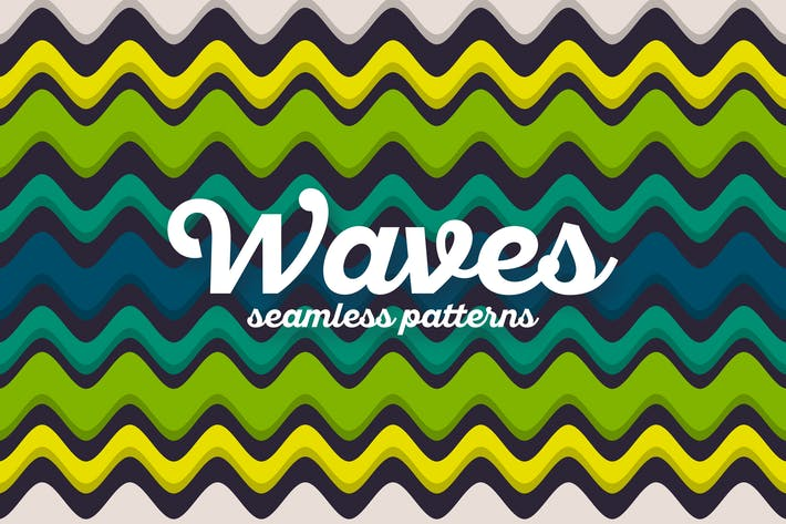 Thumbnail for Colorful Waves Seamless Patterns