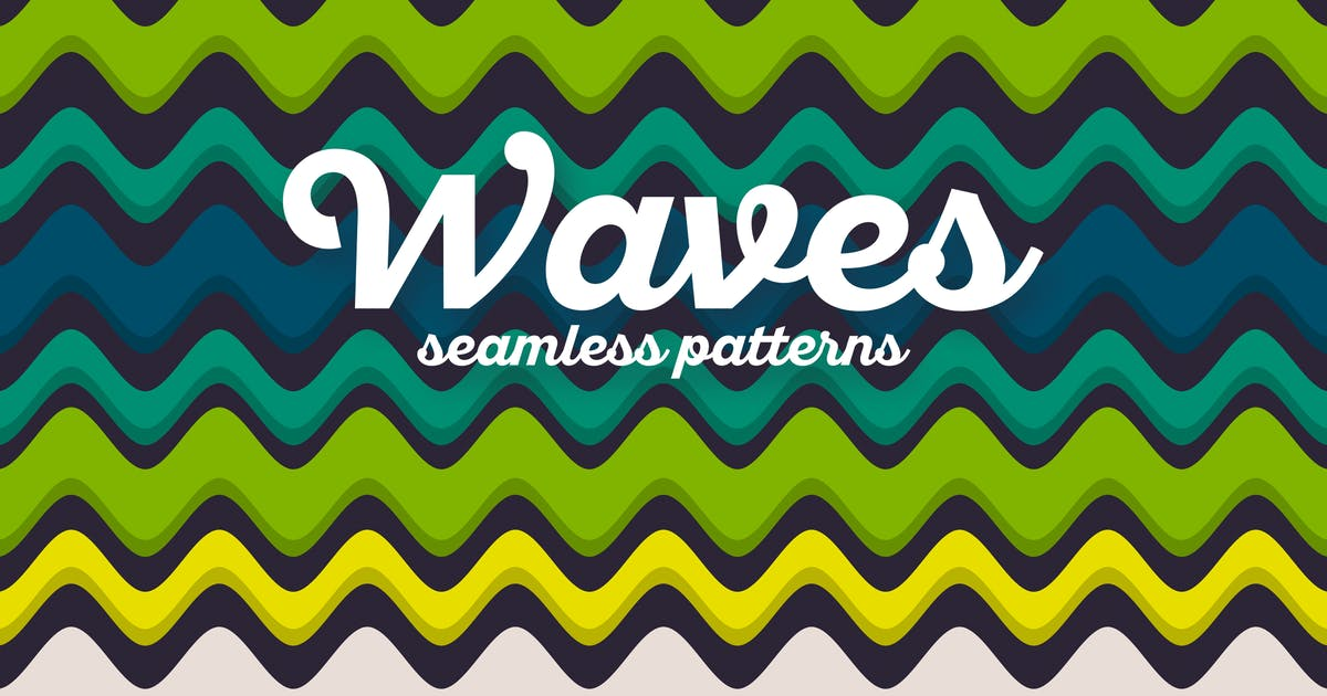 Download Colorful Waves Seamless Patterns by themefire