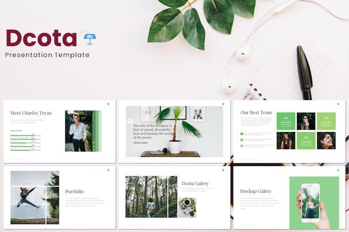 Thumbnail for Dcota - Keynote Template