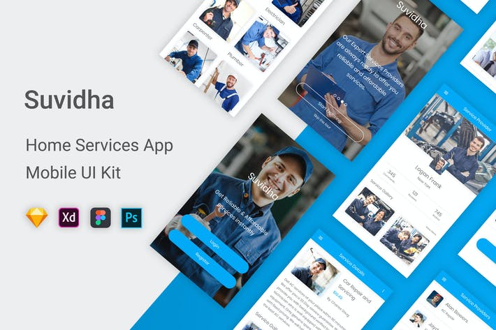 Thumbnail for Suvidha - Home Services UI Kit