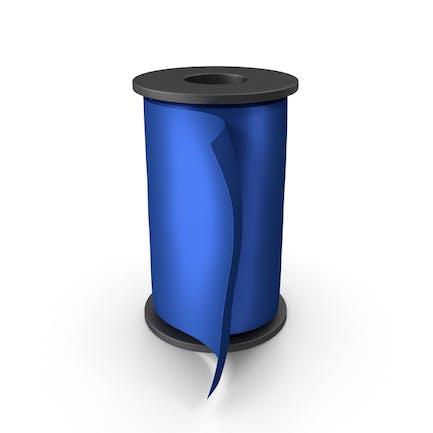 Blue Silk Ribbon Spool