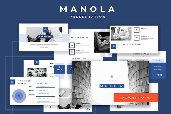 Thumbnail for Manola Pitch Deck Powerpoint Presentation