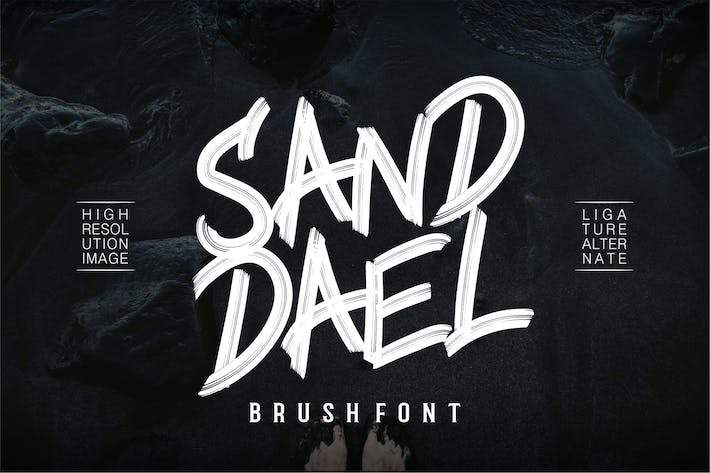 Thumbnail for Sand Dael - Brush Font