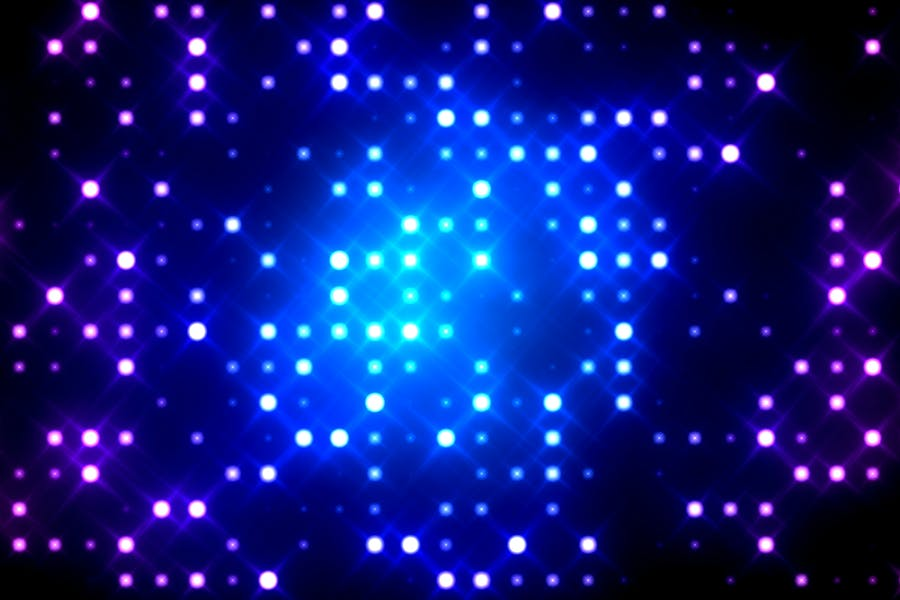 Glittering Light Grid Background