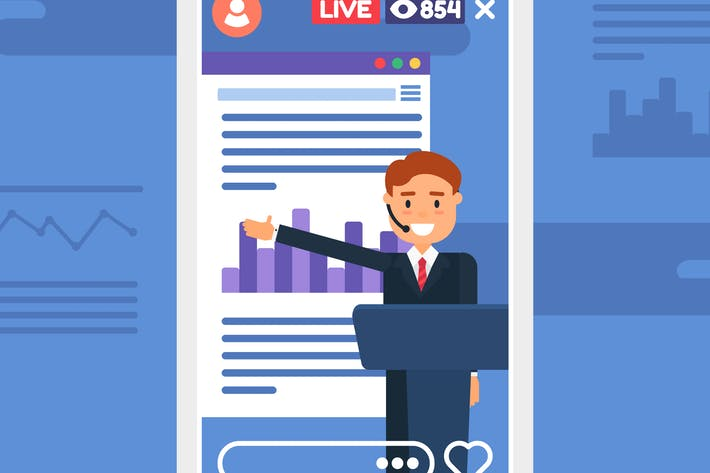 Thumbnail for Business Presentation Live Stream Illustration