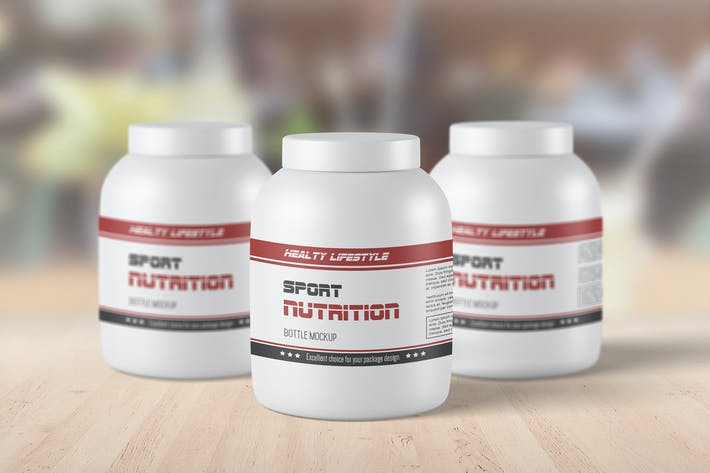 Cover Image For Sport Supplement Packaging Mockup Set