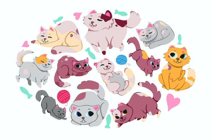 Thumbnail for Cutest Cats Clipart