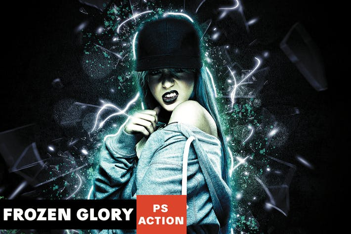 Thumbnail for Frozen Glory Photoshop Action