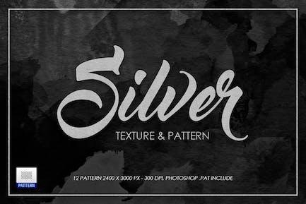 Silberne Textur