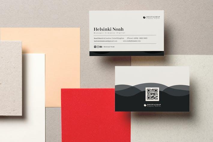 Цифровая карта визитная карточка