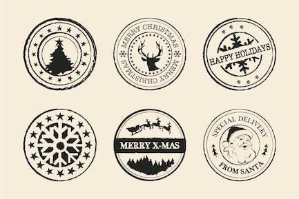Grungy Weihnachtsstempel