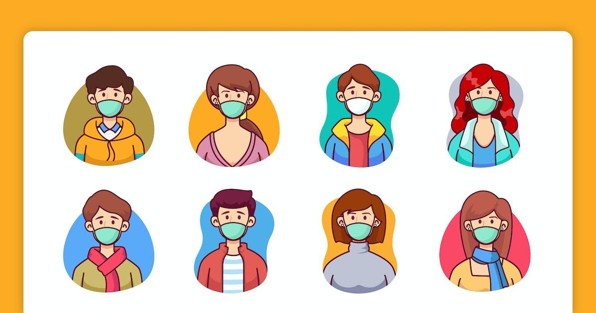 Download Avatar Wearing Mask by yellowline_std