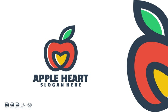 apple heart logo