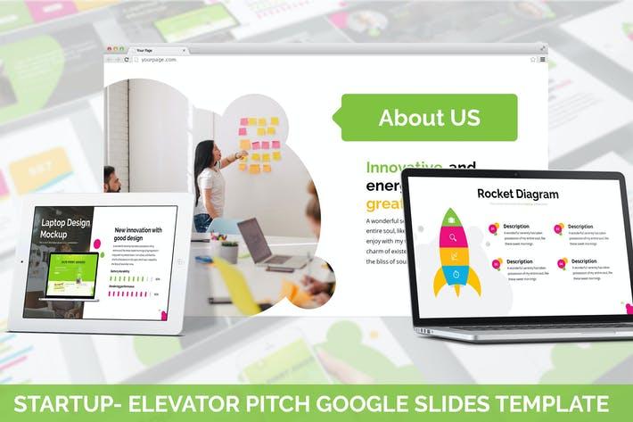 Thumbnail for Startup - Elevator Pitch Google Slides Template