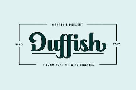Duffish - Tipo de letra Logo
