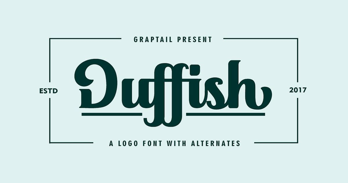 Download Duffish - Logo Font by graptailtype