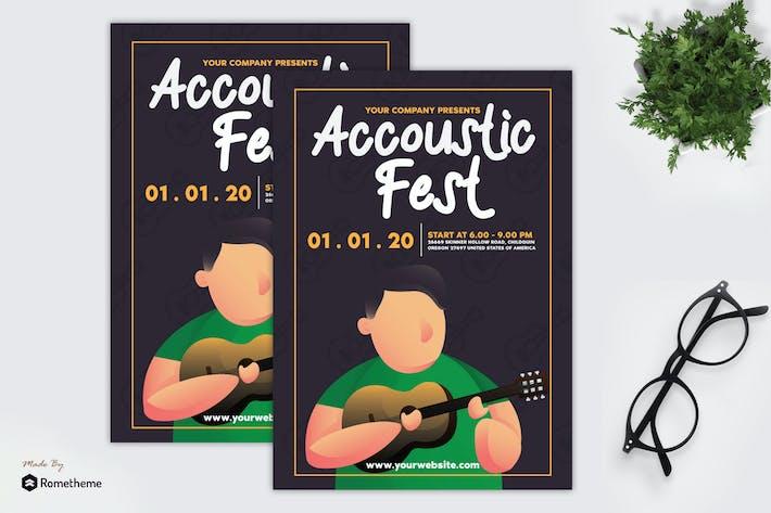 Thumbnail for Accoustic Fest - dépliant GR