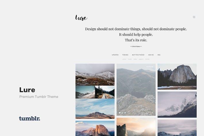 Thumbnail for Приманка - Отзывчивая Тема Tumblr для фотографов