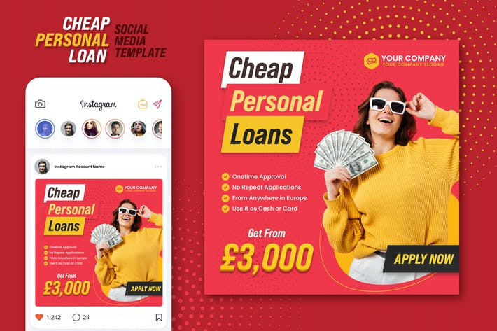 Thumbnail for Cheap Personal Loans Instagram Banner