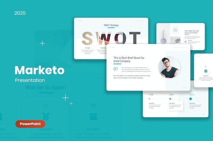 Thumbnail for Marketo - Маркетинг шаблон PowerPoint