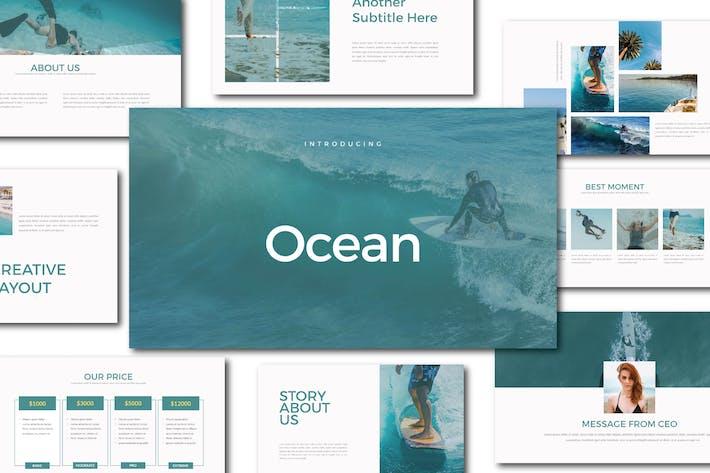 Thumbnail for Шаблон Keynote океана