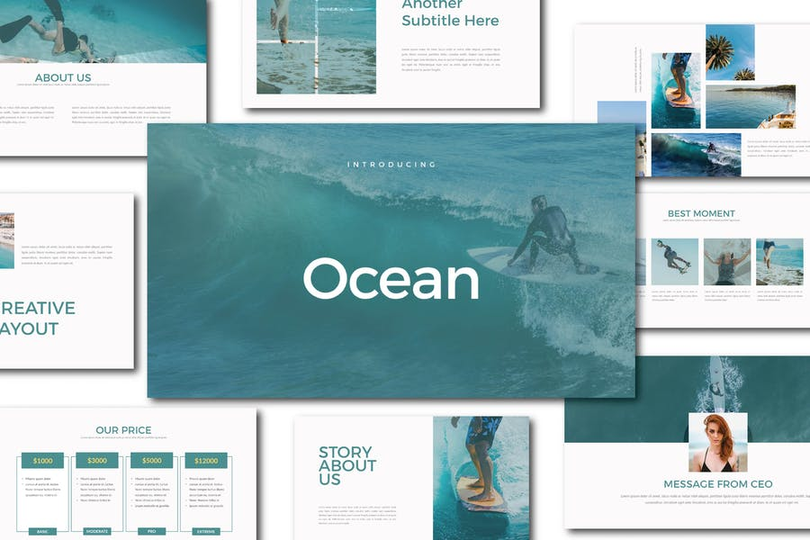 Ocean Keynote Template