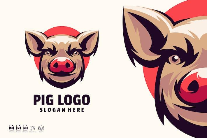 Thumbnail for pig head logo template