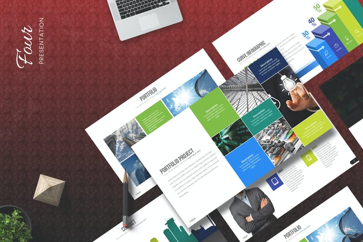 Thumbnail for Four - Powerpoint Template