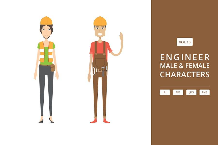 Ingenieur - Männlich & Weiblich Characters Vol.15