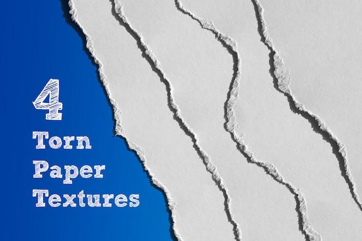 Thumbnail for 4 Texturas Papel rasgado con sombra