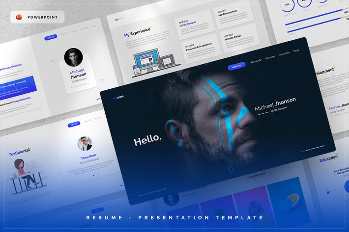 Thumbnail for Resume - PowerPoint Template