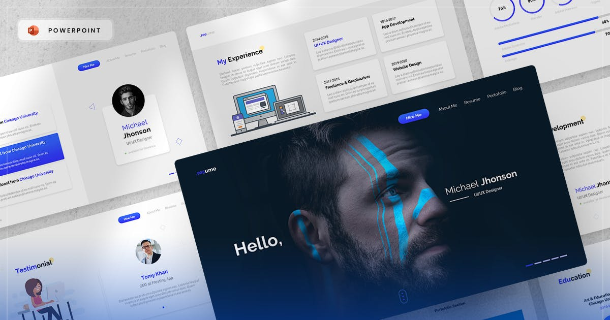 Download Resume - PowerPoint Template by yossy1