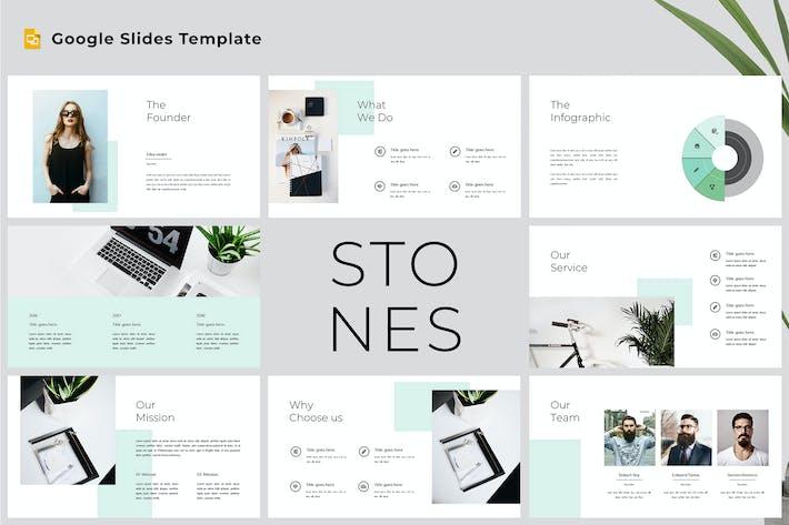 Thumbnail for Stones - Modern & Clean Google Slides Template