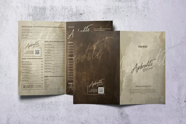 Thumbnail for Vintage Style Bifold Menu - A4 and US Letter