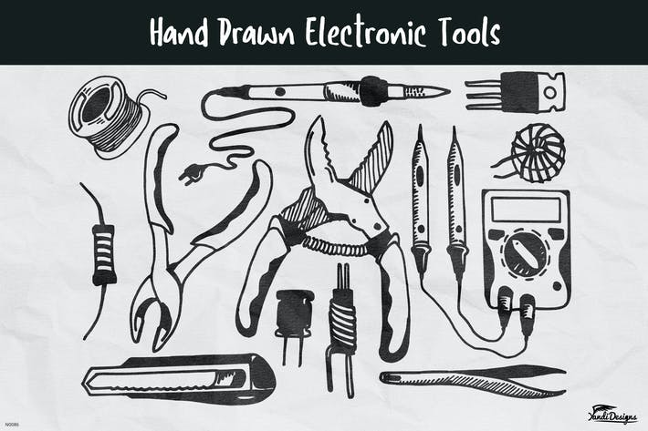 Hand Drawn Electronic Tools