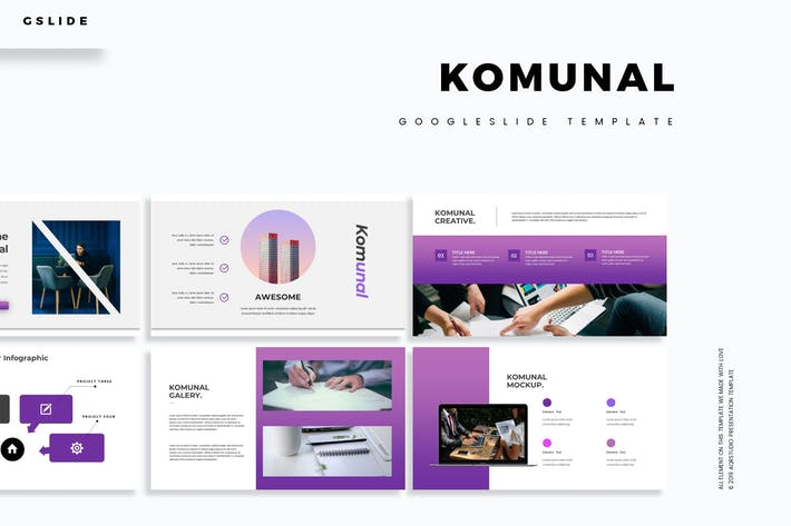 Cover Image For Komunal - Google Slide Template